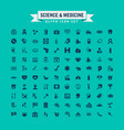 science and medicine glyph icon set vector image