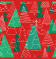 seamless pattern of hand drawn sketch christmas vector image