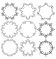 set of round lace frames vector image vector image