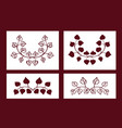 set of stencils floral elements vector image
