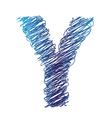 sketched letter Y vector image