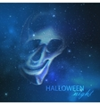 spooky with an evil ghost skull on the night vector image vector image