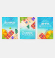 summer vecetion time brochure cards se vector image vector image