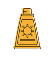 sunscreen or sunblock icon image vector image vector image
