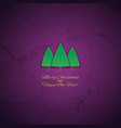 the greeting card with a christmas tree vector image