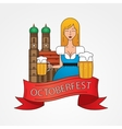 The symbol of the Oktoberfest in Munich Germany vector image vector image