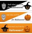 Three Halloween Poster vector image