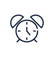 time alarm clock linear design vector image