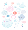 various clouds vector image