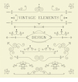 Vintage Design Borders Retro Elements Frame Ve vector image vector image