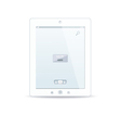 White tablet pc on white background vector image vector image
