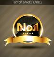 winner golden label vector image vector image
