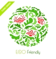 Abstract floral round ornamental pattern vector image