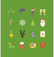 Christmas icons collection Set of isolated vector image
