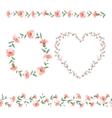 Set of flower frames vector image