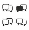 Communication bubble icon set vector image
