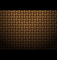 abstract brown weave texture pattern vector image vector image