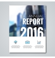 Annual report design template with blur background vector image vector image