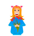 beautiful love woman with vector image