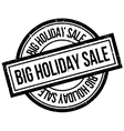 Big Holiday Sale rubber stamp vector image vector image