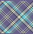 blue gray color check plaid seamless fabric vector image vector image