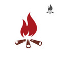 bonfire icon isolated on white vector image vector image
