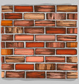 brown brick wall and brickwork vector image vector image