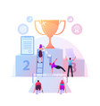 business competition obstacles race office vector image vector image