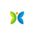butterfly wellness logo icon design vector image