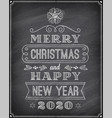 christmas and happy new 2019 year chalkboard vector image vector image