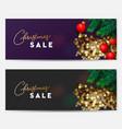 christmas sale banners horizontal vector image vector image