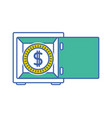 coin with peso symbol inside strong box vector image vector image
