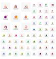 collection of shop logo template design concept vector image vector image