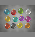 color baubles set top view composition vector image vector image