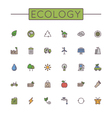 Colored Ecology Line Icons vector image vector image