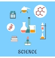 Colored flat science and medical icons vector image vector image