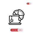croissant with tea icon vector image vector image