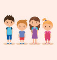 cute and little kids group vector image vector image