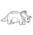cute cartoon dinosaur triceratops character vector image vector image