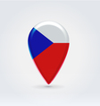 Czechian republic icon point for map vector image vector image