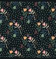 dark floral seamless tulip pattern multicolor