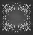 decorative frame on chalkboard vector image vector image