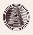 engraved letter vector image