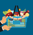 flat design colorful concept for grocery delivery vector image vector image