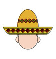 folk hat mexican culture related icon image vector image vector image