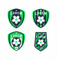 football logo badges set good for football team vector image vector image