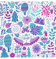 forest design floral pattern vector image