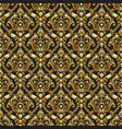 gold shining vintage seamless pattern background vector image vector image