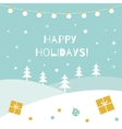 Happy Holidays Winter Background Garland of vector image vector image
