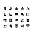 hotel service glyph icons vector image vector image